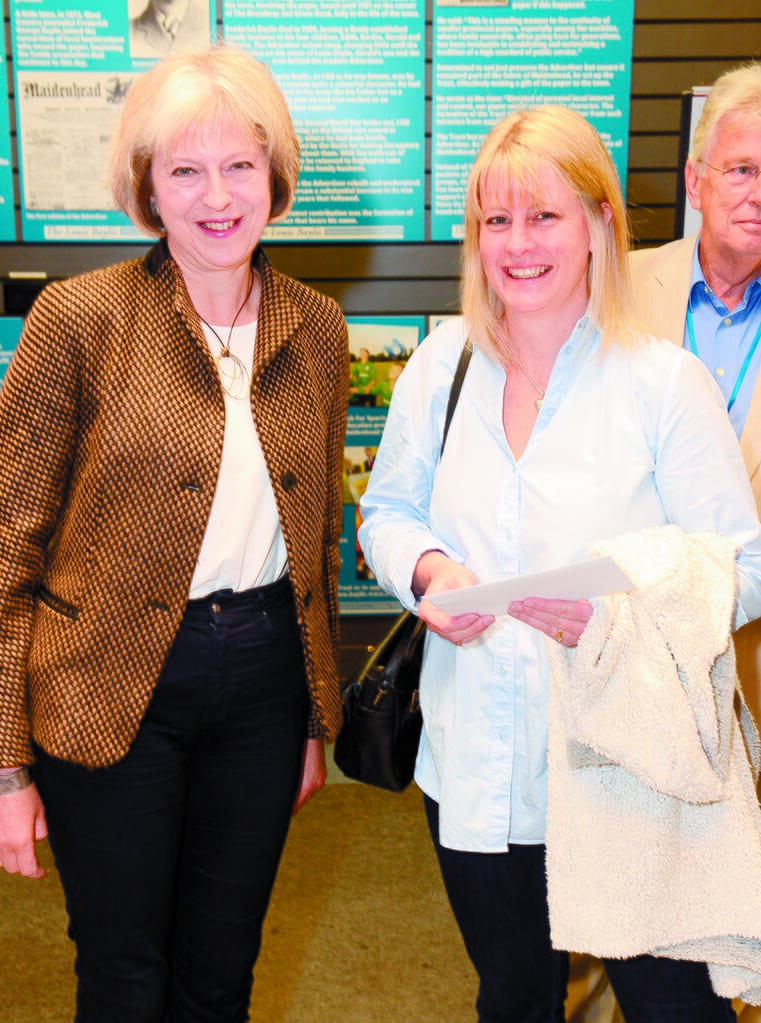 prizegiving and launch of Maidenhead and Me art competition exhibition, organised by Civic Society, Bovilles, Enjoy Maidenhead and Nicholsons Centre supported by Baylis Trust and Advertiser. Theresa May will be opening the exhibition and presenting the prizes. Page of pics of presentations and general shots of exhibition.