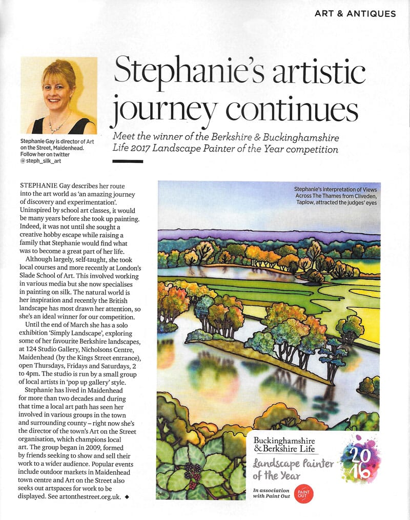 View Across the Thames from Cliveden II - Winner of Berkshire and Buckinghamshire Life Landscape Painter of the Year 2017
