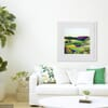 The Copse Framed Original Silk Painting in Room Setting