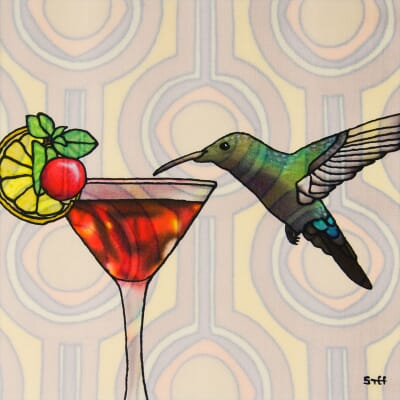 Humdinger - Hummingbird and Cocktail