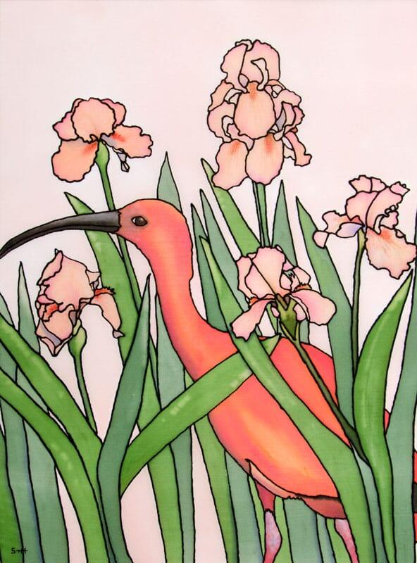 Ibis in the Iris
